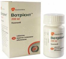 Votrient 200  [Вотриент (пазопаниб  200мг)]